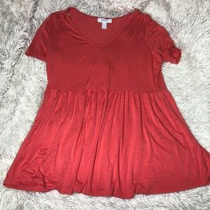 Plus Size Basic Coral Top!